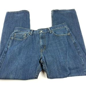 Levi Mens 36x32 559 Blue Relaxed Straight Leg